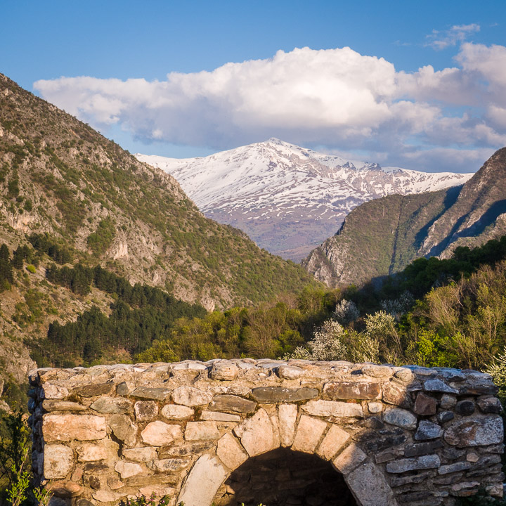 View of the Sharr Mountains from Kalaja