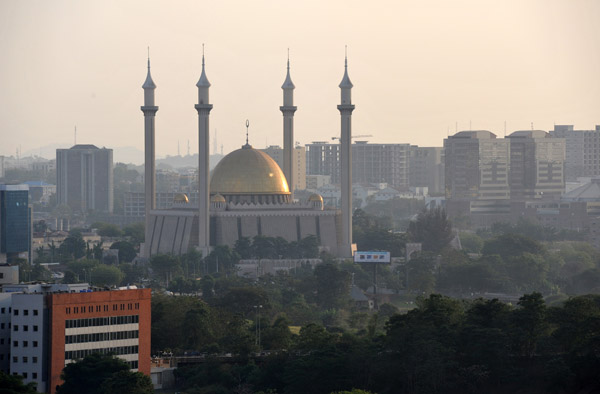 Abuja National Mosque from the Transcorp Hilton