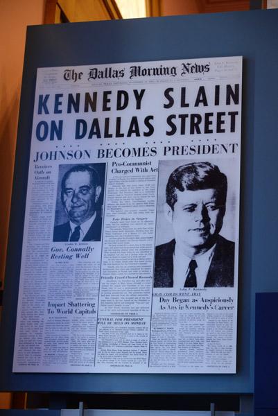 Dallas Morning News, Kennedy Assassination, 23 Nov 1963