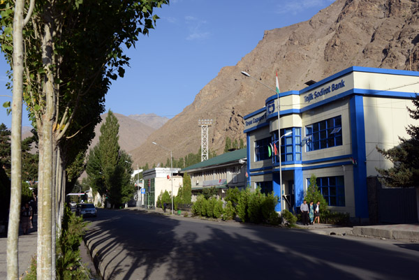Main Street Khorog, the Pamir Highway - Google Earth still calls it Lenin Street
