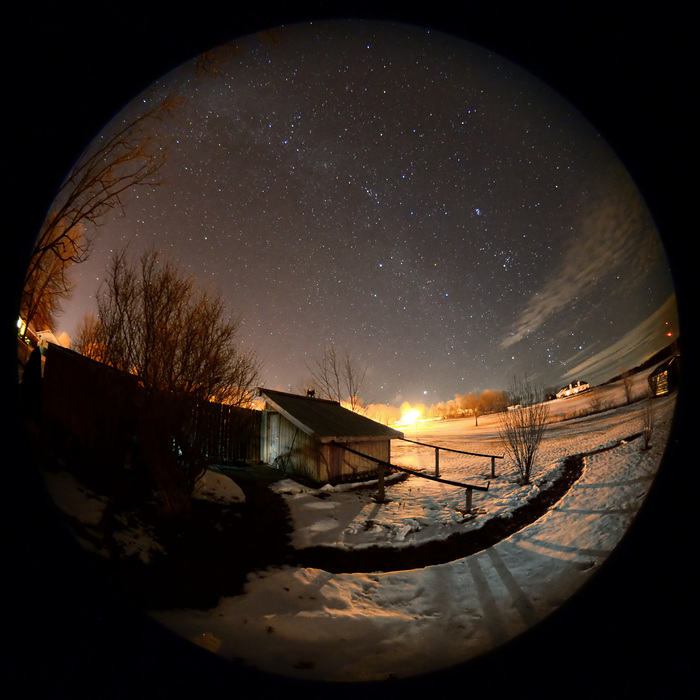 Cold Winter Night at the Observatory