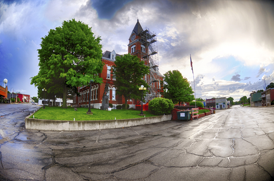 Albanys Courthouse on Memorial Day