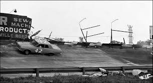 August 2, 1963 Tiny Lund and David Pearson crash