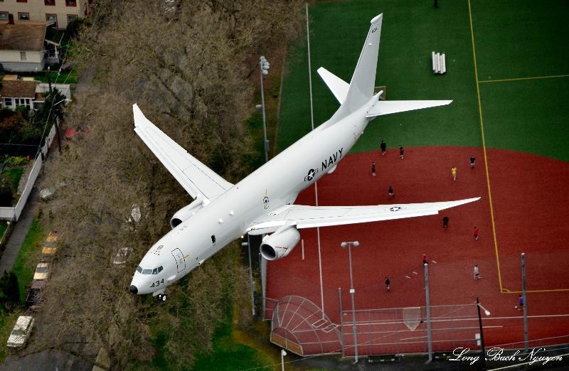 US NAVY P-8 Poseidon, Georgetown playfield, Seattle