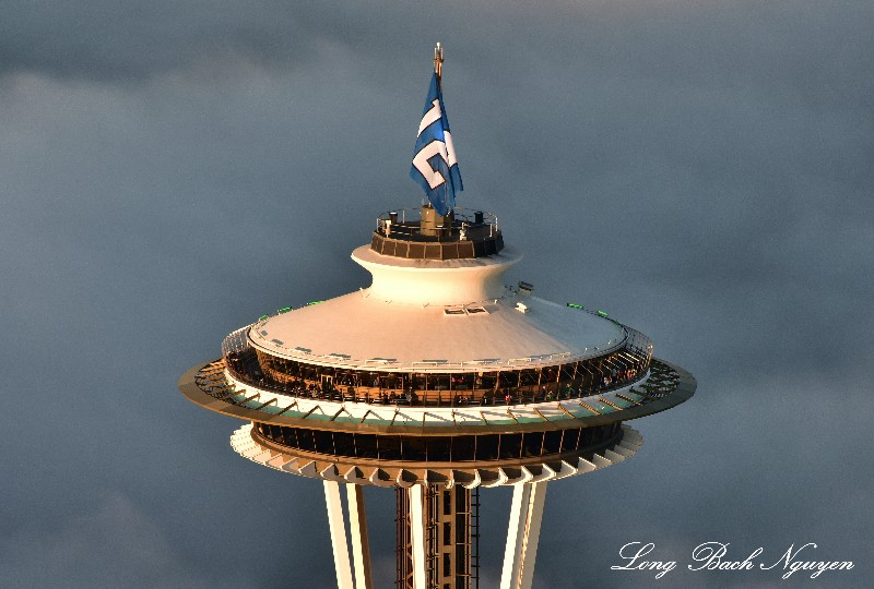 Space Needle Observation Deck and Restaurant, 12th Flag, Seahawks Seattle