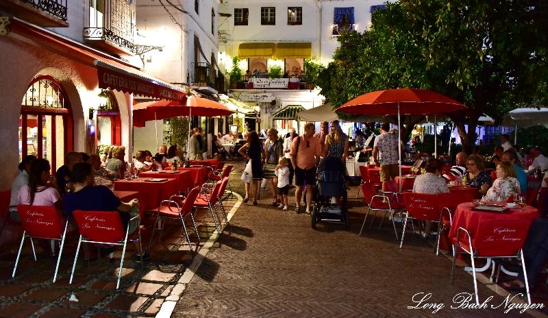 Evening in Orange Square, Marbella, Spain