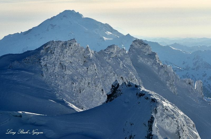Dome Peak, Dome Glacier, Glacier Peak, North Cascades Mountain, WA