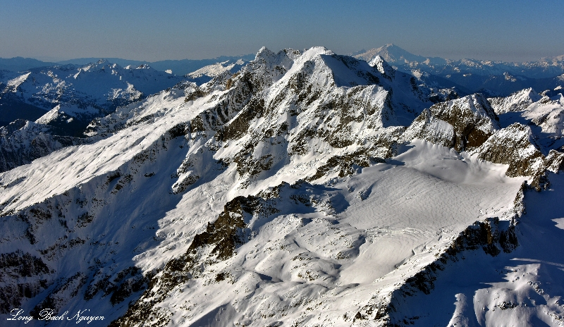 Dome Peak, Dome Glacier, Mount Baker, North Cascades Mountain, WA