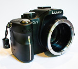G1 with EOS->m4/3rds adaptor