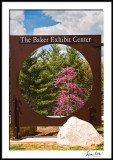 Baker Exhibition Center Sign and Redbud