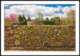 Outside Wall of Quilt Garden and Viewing Platform
