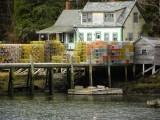 38DSCN3194.jpg lobster traps pattern an old harborside home Southport, Maine