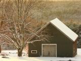 DSCN9370_1 barnatsunset.jpg LUCKY HORSESHOE... Barn prepares for one more night