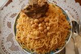 rechta with lamb an authentic algerian dish