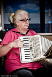 Piano accordian player