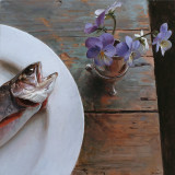 10. Brook Trout and Violets 12 x12