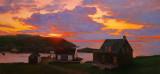 25. Sunset, Monhegan Harbor 22 x 48