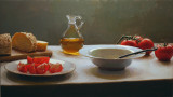 34. Tomatoes and Olive Oil 14 1/2 x 25 1/2