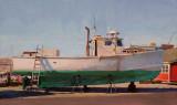 Green Hull 7 1/2 x 14 1/2