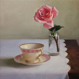 Teacup and Rose 13 1/2 x 13 1/2