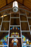 76254 - Reflection of stained glass window