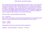 PRINT PRICES and Information