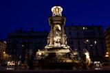 Fountain at twilight