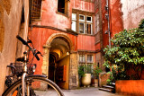 HDR- Bicycle & Courtyard