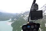 nav display, Chakachamna Lake and rain