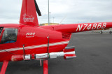 Robinson R44 with Magnetometer Bird at Merrill