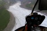 glacier in the rain