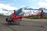 R44 at Spurr Airstrip