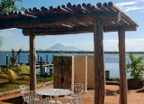 Volcano through the cabana