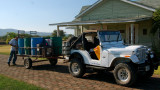 Manuel's Jeep and the fuel trailer