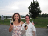 Women Champs Lenore Imhof and Jacquelline Paulle