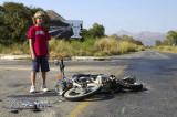 Flattened Motorbike