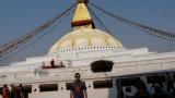 La célèbre stupa de Bodnath