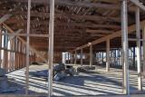Interior, Barracks Being Restored, Building 14