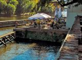 Cafe along the river (Mala Strana)
