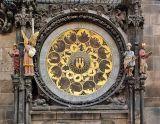 Astrological clock, upper section