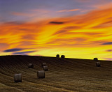 Haybales Sunset