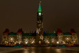 Christmas Lights on Parliament Hill