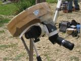 Here is my setup for the eclipse, I used my finder with the big sunfoil from the 8 newton, 25mm plössel, canon G2 or A620