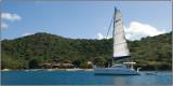 A Sailboat at Norman Island