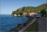 Driving Along the North Shore of Tortola