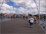 Crossing the Floating Queen Emma Bridge