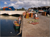 Unloading Goods at the Floating Market