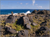 Rock Cairns on Aruba Near the Natural Bridge