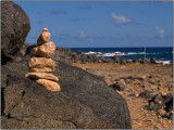 Rock Cairn at the Natural Bridge of Aruba