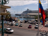 Cruise Ship Port as Seen From Iguana Joe's